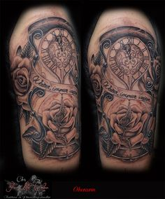 Oberarm #tattoorosenheim #chris #tattoochris #christattoo #forlifecolor #tattooraubling #ink #instatattoo #instagood #sanduhr #rosen #fuenfvorzwoelf #rosenheim #raubling #tattoo #tattoos #liked #tattoolife #tattoolovers #tattooart #tattooed #artistchris #artist #tattooartist #blackandgrey