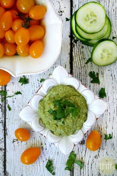 """Clean Eating """"Field of Greens"""" Zucchini Hummus...made with clean ingredients and it's raw, vegan, gluten-free, dairy-free and paleo-friendly   The Healthy Family and Home"""