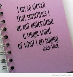 I am so clever quote note