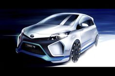 The Toyota Yaris Hybrid-R concept's design is based on the three-door Yaris