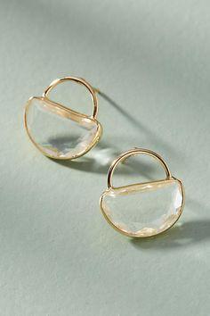Slide View: 1: Cadence Petite Hooped Post Earrings