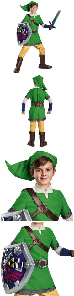 Boys 80913 Link Costume Kids Legend Of Zelda Halloween Fancy Dress -u003e BUY IT  sc 1 st  Pinterest & Boys 80913: Link The Legend Of Zelda Deluxe Child Boys Halloween ...