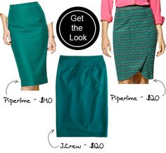 Emerald Pencil Skirts || PinQue Blog St Patrick's day inspiration already!