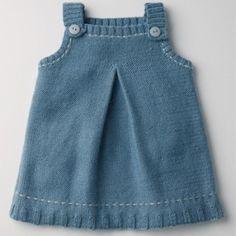 Kız Bebeklere Örgü Elbise Modelleri 77