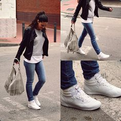Skinny Jeans and Reebok Freestyle 2431  df63a2ecb