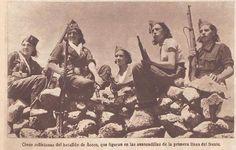 Spain - 1936. - GC - Milicianas del Batallón de Acero.