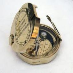 Solid brass brunton compass. Just awesome