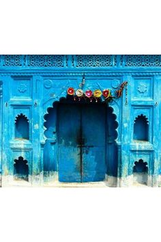 Blue India Door - See the most beautiful doors from all around the world courtesy of Door J'adore pics from their regular Instagram takeovers on the House & Garden account.