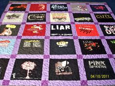 Custom TShirt Quilts Full Size 82 x 87 25 TShirts by quiltsbykandy, $225.00