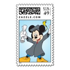 Mickey Graduation Postage Stamps