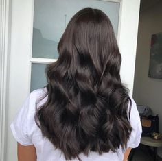 Black Coffee Hair With Ombre Highlights - 10 Cool Ideas of Coffee Brown Hair Color - The Trending Hairstyle Brown Hair With Highlights, Brown Hair Colors, Coffee Brown Hair, Coffee Hair Color, Bronde Hair, Balayage Hair, Haircolor, Chocolate Brown Hair Color, Curls For Long Hair