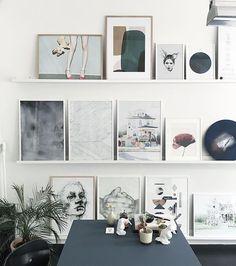 Office wall #theposterclub #silkebonde #beritlopezmogensen #papercollective #mathiasjuelchristensen #idalærke #annenowak