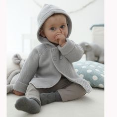 baby s unisex knitted cotton rich cardigan So Cute Baby, Cute Baby Photos, Cute Kids, Cute Babies, Baby Kids, Little Girl Fashion, Kids Fashion, Baby Fashionista, My Little Baby