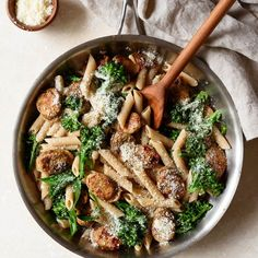 A quick & easy recipe for Whole Wheat Pasta with Broccoli and Chicken Sausage, a flavorful, soul-satisfying dinner that's ready in under 30 minutes.