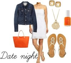 Perfect date night outfit for an outdoor party