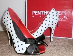 Polka Dot Pumps with Bow Detail-- free shipping $50.00 I WANT!!!