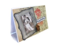 romantic  shabi chic wedding greeting card by buttonspaperart, $7.70