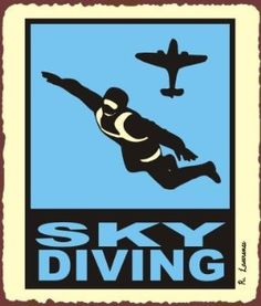 Amazon.com: Sky Diving Vintage Metal Art Aviation Airplane Retro Tin Sign: Home & Kitchen
