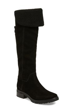 Women's MICHAEL Michael Kors 'Whitaker' Water Resistant Tall Boot, Size 7.5 M - Black | 41% desligar