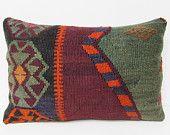16x24 bohemian pillow case accent ethnic pillow kilim Turkish rug floor decor outdoor decorative cushion sofa boho throw pillow cover 27102