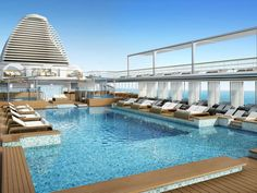BUCKET LIST: CRUISE ~ The pool deck planned for Regent Seven Seas' next ship,