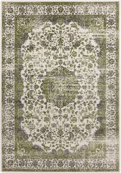 Aberdine Lime/Light Gray Area Rug from FROY