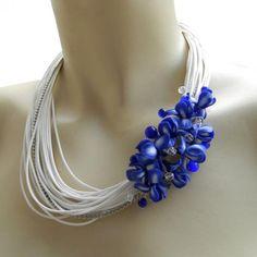 Irises Bib necklace.  #necklaces #jewelry  9thelm.com