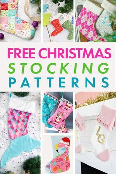 The BEST 25  FREE Christmas Stocking Sewing Patterns.  These patterns all come with a FREE Downloadable Printable Template and would make a great Christmas Sewing Gift.  Christmas Stockings are the perfect Christmas Sewing Project to Make for the Holidays! Christmas Sewing Patterns, Christmas Sewing Projects, Diy Christmas, Traditional Christmas Stockings, Unique Christmas Stockings, Sweater Christmas Stockings, Christmas Stocking Pattern, Sewing Projects For Beginners, Sewing Tutorials