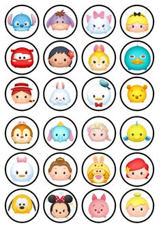 Tsum Tsum Edible Wafer Rice Paper Cake Cupcake Toppers x 24