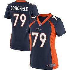 Nike Limited Michael Schofield Navy Blue Women's Jersey - Denver Broncos #79 NFL Alternate