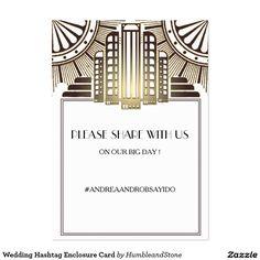 Wedding Hashtag Enclosure Card