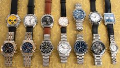 Solid update with fine watches from some of the biggest watch brands: Omega, Breitling, TAG Heuer, and Rolex.  Plus a stunning A. Lange & Sohne, and a pair of Anomino's.  Swing by our site for more photos and information. Big Watches, Popular Watches, Mechanical Watch, Tag Heuer, Watch Brands, Breitling, Omega, Rolex, Pairs