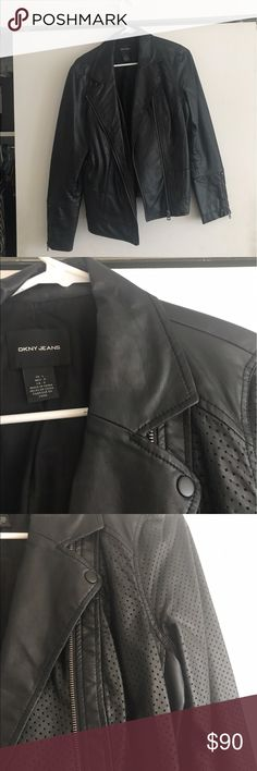 DKNY leather jacket Great condition, no visible signs of wear. Great for fall and winter. Open to offers Dkny Jackets & Coats