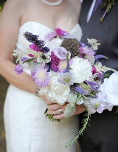 Always go big with your floral color palette. How pretty is this bouquet?!