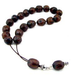 Natural Komboloi Handmade Worry Beads by SunnyBeadsByTheSea, $22.00