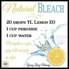 Young Living Essential Oils: Bleach Cleaner Home   For more information or to order Young Living, come visit: www.TheSavvyOiler.com