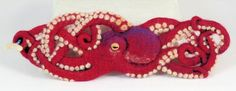 Red Octopus - needle felted cuff | Flickr - Photo Sharing!