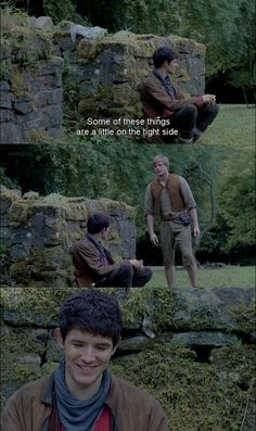 Simpleton Arthur. Everything about that outfit was awkward! It was the best form of revenge for Merlin :)