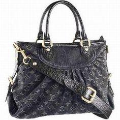 Louis Vuitton Monogram Denim Canvas Neo Cabby GM Black Handbag M95352 [M95352-11257] :
