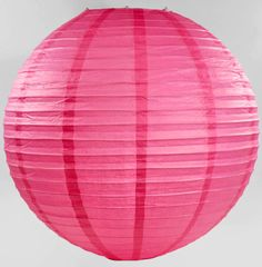 """Paper Lanterns Pink Rose 24"""" - add little lights inside and glue on rhinestone bands and bows or little rhinestone hearts on the outside"""