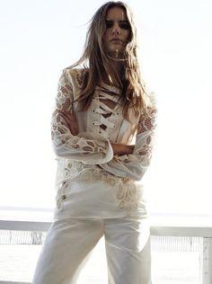 lace up blouse #pixiemarket