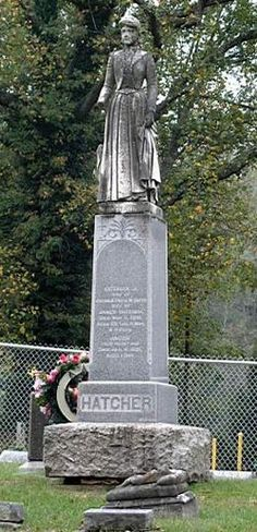 Octavia (Smith) Hatcher. The legend goes that she was accidentally buried alive and her ghost is said to haunt the cemetery to this day. You can read her legend here: http://www.prairieghosts.com/octavia.html. Pikeville Cemetery, Pikeville, Kentucky