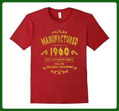 Mens Manufactured 1960 T-Shirt 57 yrs old Bday 57th Birthday XL Cranberry - Birthday shirts (*Amazon Partner-Link)