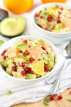 Quinoasalade met citrusfruit, avocado en granaatappelpitten ♥ Foodness - good food, top products, great health