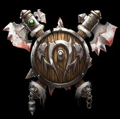 World of Warcraft: Horde 02 World Of Warcraft Orc, Warcraft Art, Blizzard Warcraft, Shield Icon, For The Horde, Wow World, Night Elf, Death Knight, Geek Games
