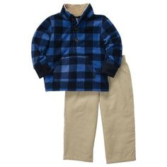Carter's 24 Months Boys 2-Pc Plaid MicroFleece Cardigan & Corduroy Pants Set NWT #Carters #Everyday