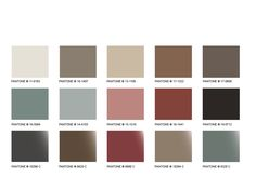 WGSN - colour palette, soft and muted warm colours with darker, gothic shades