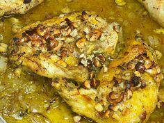 Yummy Cooking: Roast Chicken With Saffron, Hazelnuts, and Honey
