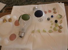 shapes using translucent clay.