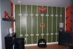 could do half of the room football and baseball